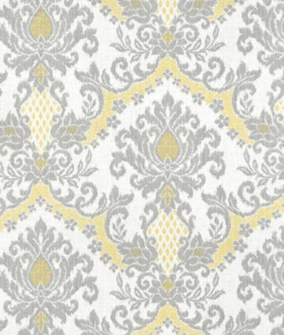 Home Decor Fabric Designer Fabric Yellow Damask By