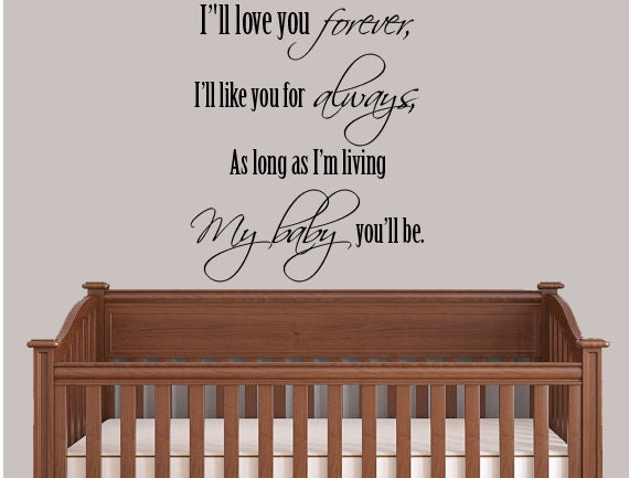 I'll Love You Forever Christian Wall Art Wall Decal