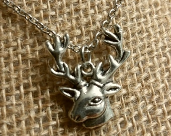 Silver Plated Buck Necklace