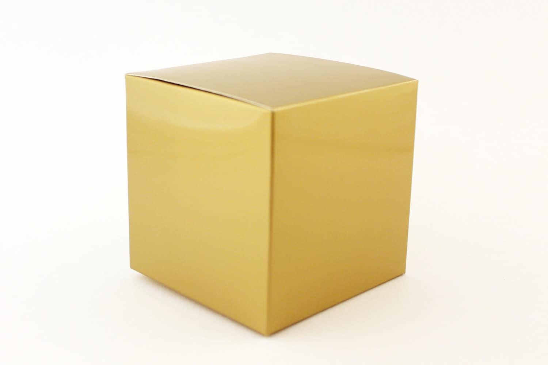 Gold Favor Boxes 4x4x4 : Gold favor box small boxes x wedding