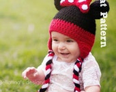 Pattern: Minnie Mouse inspired Hat with bow
