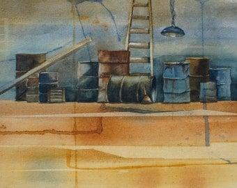 """Original Watercolor Painting - """"The Garage"""""""