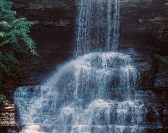 Popular items for waterfall scenic on etsy for Waterfall design etsy