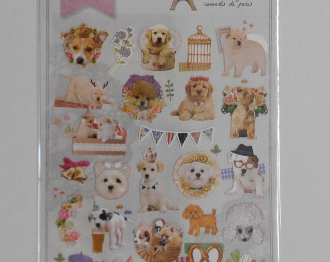 Kawaii Parisian Puppy Stickers