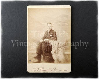 Cabinet Card Photograph of a Seated Young Man - A. J. Pannell & Co. Liverpool
