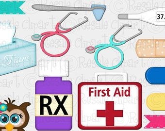 DIGITAL SCRAPBOOKING CLIPART - First Aid 2