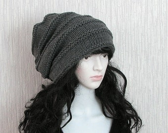 Hand Knit Laadies Hat Tam Hat Hippie Hat | Boho Hat | Slouch Hat  Hats for Dreads Slouchy Beanie Dread Hat Tam Hat  Dread Hat  Bohemian Hat