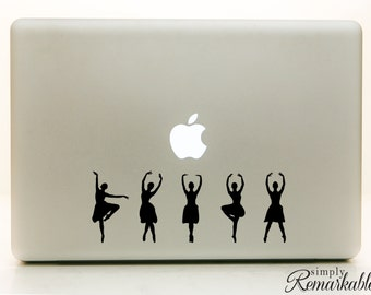 """Vinyl Decal Sticker for Computer Wall Car Mac Macbook and More - Dancers Decal - 8"""" x 3"""" - Dance2silhouette"""