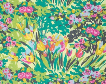 One Yard - 1 Yard - Meadow Blooms in Butter - VIOLETTE Collection by Amy Butler
