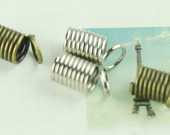 DIY  jewelry 100 pcs of antique brass or silver spring  clasp 4mm