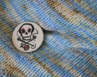 Knitting skull Shawl and Hair Pin