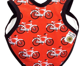 Bicycle Drool Bib, Geeky Bicycle Baby Bib, Retro Bicycle Baby Bib, Drool Bapron, baby apron, baby bicycle clothes, baby gift