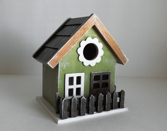 items similar to fancy decorative birdhouse hand painted. Black Bedroom Furniture Sets. Home Design Ideas