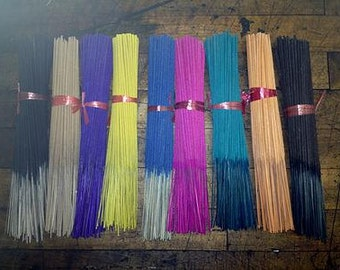 "Premium Colored 11"" Oil Soaked Incense Sticks"