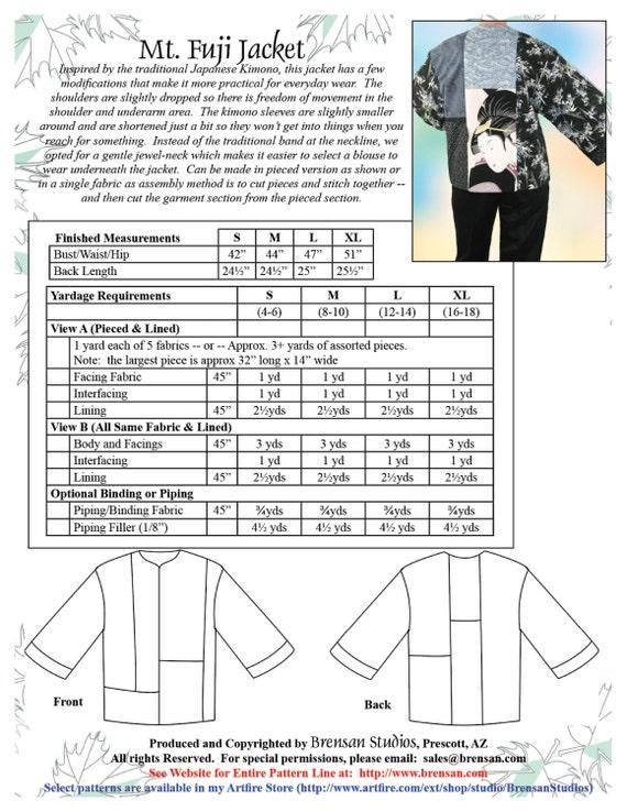 Haori Sewing Patterns - Patterns Kid