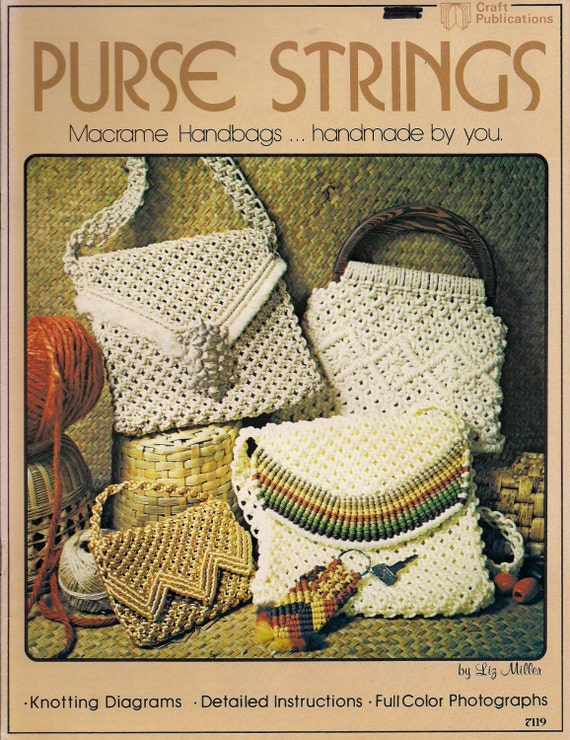 macrame pattern books vintage macrame purse strings craft book patterns with 6106