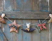 Primitive Angel Garland-Primitive Star Garland-Rustic Country Garland