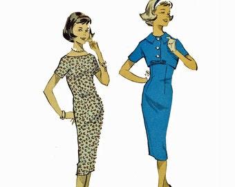 Vintage 50s Dress Pattern / Slim Fit Wiggle Dress & Cropped Bolero Jacket Pattern / Sub Teen Dress Pattern / ADVANCE 8903 Bust 31 UNCUT