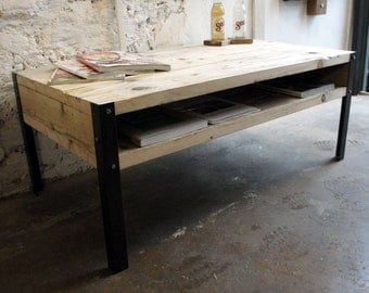 MULTIPLE SIZES AVAILABLE // Industrial Scaffold and Steel Coffee Table