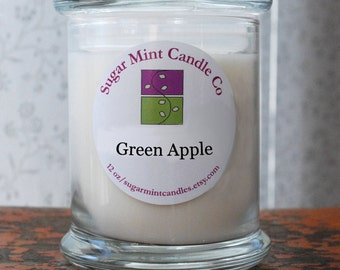 Green Apple Soy Candle - 12 oz
