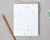 Modern Triangle Pattern Card // Single Blank Note Card // Any Occassion Note Card