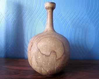 Gerhard Liebenthron German studio art pottery vase ceramic sgrafo dec modernist