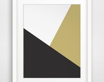 gold geometric print minimalist gold and black geometric