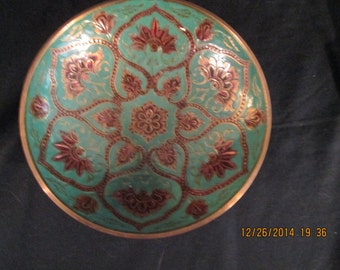 Turquoise Japanese porcelain ware bowl
