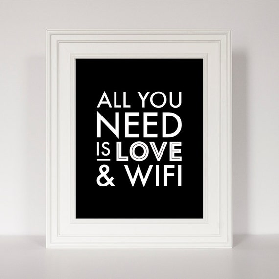 Office art funny home decor funny quote art all you need is for Funny home decor
