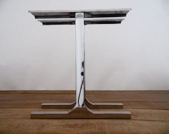 "28"" Single Bar Table Legs, Stainless Steel, 28"" Width Base,height 26"" - 32"" Set(2)"