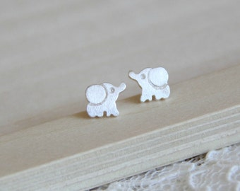 Sterling Silver baby elephant ear posts. Everyday earrings
