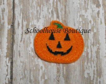 Pumpkin felties, feltie, halloween, felt paper clip, badge reel, felt brooch, felt bookmark, planner clip, felt hair clip, key chain