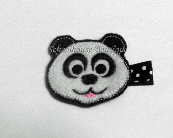 Panda Felt Hair Clips, Felties, Feltie Hair Clip, Felt Hair Clip, Felt Hair Clippie, party favor