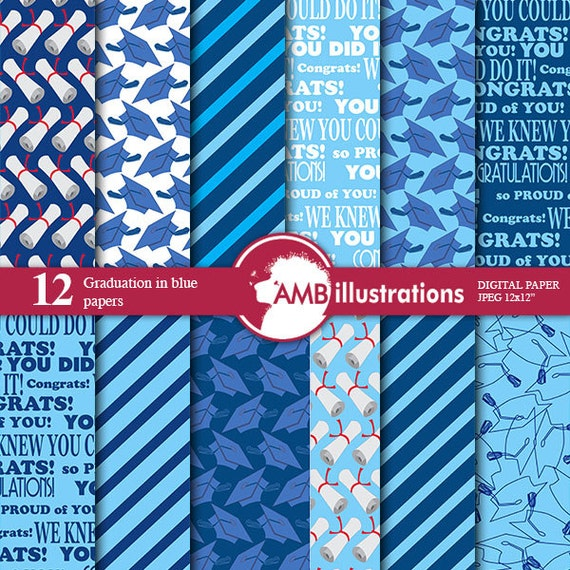 80%OFF Graduation Digital Papers Grad Papers By ...