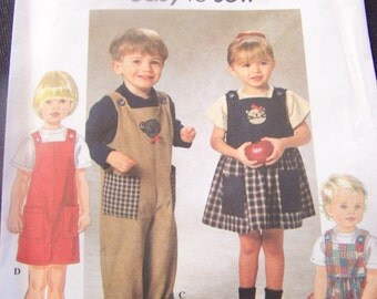 Various sizes available, Simplicity 7729, Childrens, UNCUT sewing pattern, toddlers, craft supplies