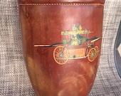 Vintage fire bucket leather bucket replica , fireman bucket