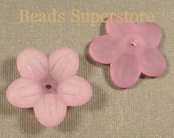 SALE 20 mm x 5 mm Lilac Lucite Flower Bead - 10 pcs