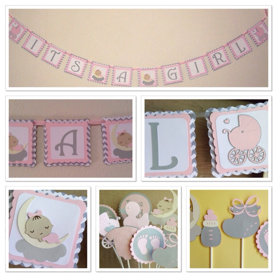 customizable chevron baby shower decorations