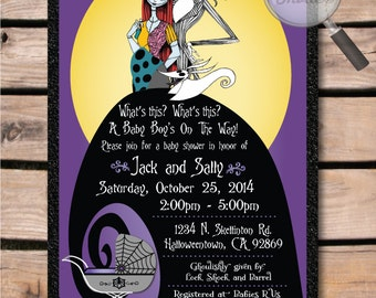 Nightmare Before Christmas Baby Shower Invitations | Christmas ...
