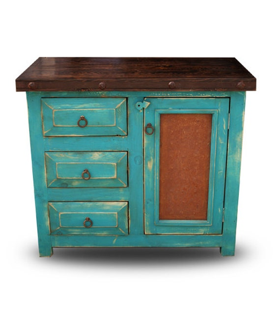 Small rustic bathroom vanity by foxdendecor on etsy