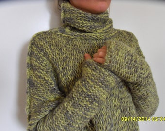 Oversize, chunky women sweater. Slouchy/ Bulky/ Loose sweater.