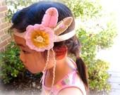 Little Pink Gypsy - pure wool felt headband, bohemian, feather, Perth