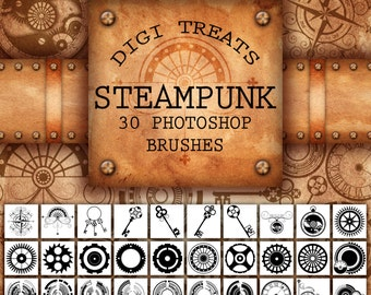 20% OFF Steampunk Photoshop Brush Set (30 brushes) ABR ~ Instant Download
