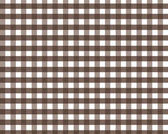 "Half Yard Medium Gingham - 1/4"" Squares in Brown - Cotton Quilt Fabric - C450-90 - RBD Designers for Riley Blake Designs (w2254)"