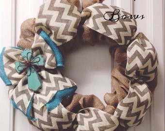 Burlap wreath, Cross Burlap wreath, chevron wreath, burlap wreath