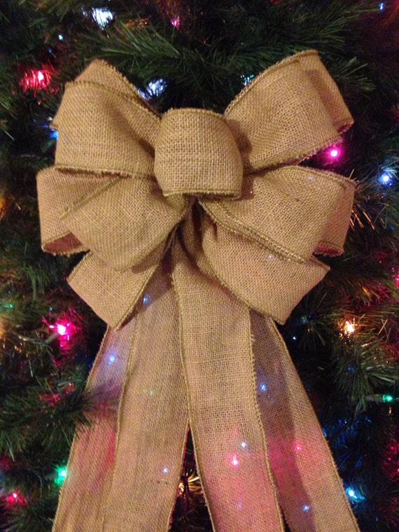 Simple Burlap Bow Topper