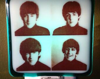 Beatles Night Light Fused Glass