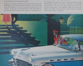 Vintage print ad from 1956 for Buick Roadmaster
