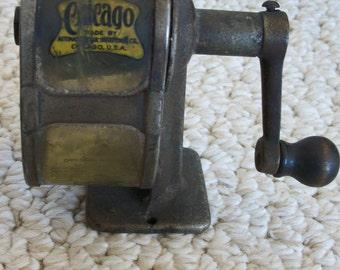 Antique PENCIL SHARPENER Made in Chicago, U.S.A. (#0314)