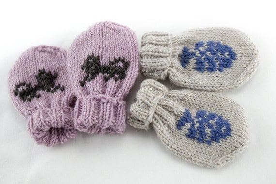 Knitting Pattern For Toddler Mittens With Thumbs : KNITTING PATTERN, Baby Mittens, Toddler Mittens, Mittens with and without Thu...